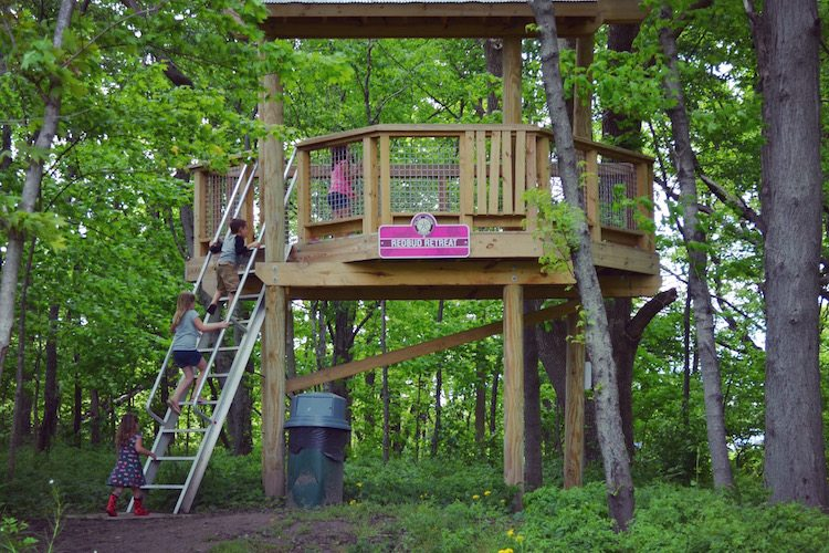 Attractive Tree Houses At Flat Fork Creek